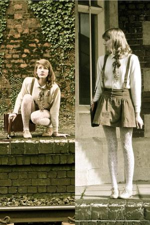 vintage jumper - Zara skirt