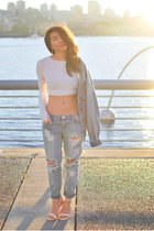 One Teaspoon jeans - Aritzia jacket - Blue Life top - Zara heels