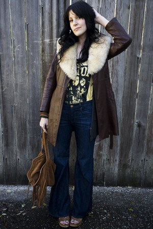 vintage shoes - thrifted vintage coat - the gap jeans - thrifted vintage shirt -