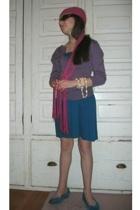 hat - sweater - shoes - dress - sunglasses