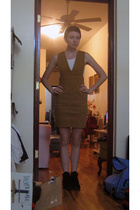 jordache dress - Hanes top - Minnetonka shoes