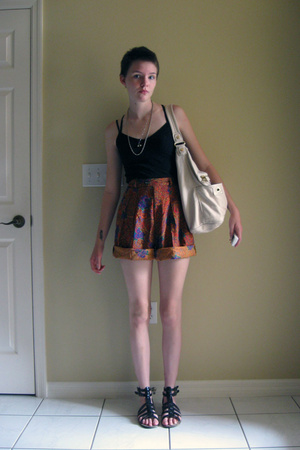 American Apparel top - gap via salvation army shorts - Urban Outfitters shoes -