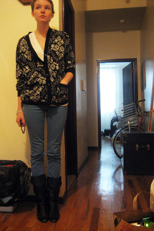 American Apparel shirt - cool brand sweater - Levis pants - shoes