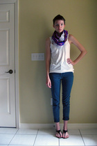 made by me scarf - mod-o-doc top - jordache jeans - Walmart shoes