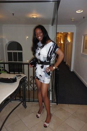 Urban Outfitters belt - Forever 21 dress - Aldo bag - Michael Kors watch