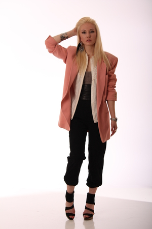 DKNY blazer - warehouse blouse - blondecaviar pants - H&amp;M top - Zara shoes