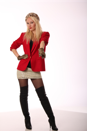 red Blonde Caviar blazer