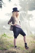 camel snake print H&M blazer