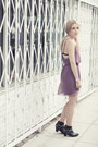 Black-jeffrey-campbell-boots-light-purple-alice-and-olivia-dress