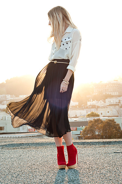 sheer  skirt - mini skirt Gentle Fawn skirt - Kelsi Dagger boots