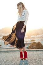 sheer  skirt - mini skirt Gentle Fawn skirt - Kelsi Dagger boots