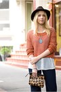 Navy-custom-indi-custom-jeans-brown-vintage-hat-burnt-orange-h-m-sweater