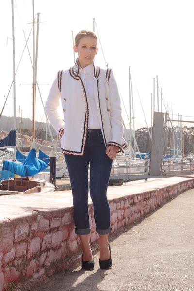 White Chanel Jackets Blue Makers Of True Originals Jeans Black
