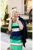lanvin dress - navy trenchcoat Gucci coat