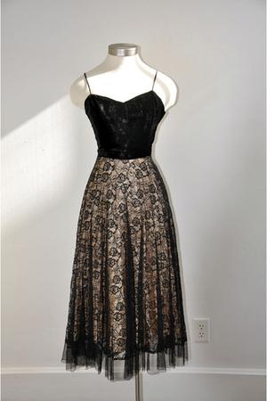 black Vintage 40s Dress dress