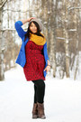Din-sko-boots-gina-tricot-dress-h-m-hat-h-m-blazer-vero-moda-scarf