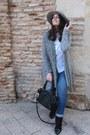 Silver-stradivarius-hat-black-stradivarius-bag-heather-gray-lefties-cardigan