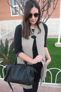 Black-stradivarius-bag-black-primark-sunglasses-camel-stradivarius-vest