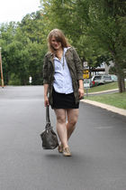 Target skirt - SJP shirt - Wet Seal jacket - gilt shoes