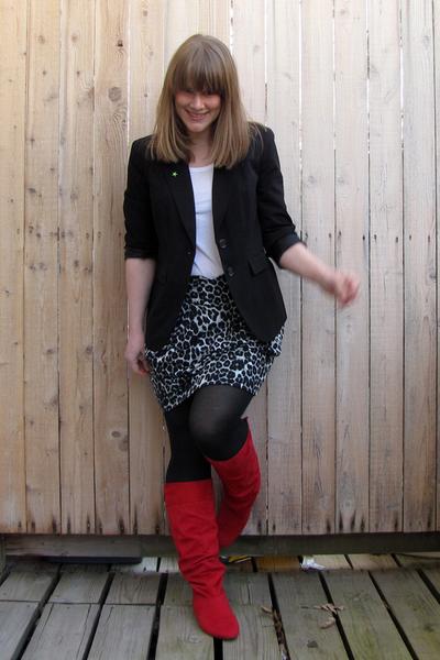 615782c2c74b JCP skirt - Payless boots - JCP blazer - Target shirt