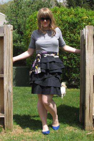 black borrowed boots - Platos Closet shirt - Target shoes - from another dress b