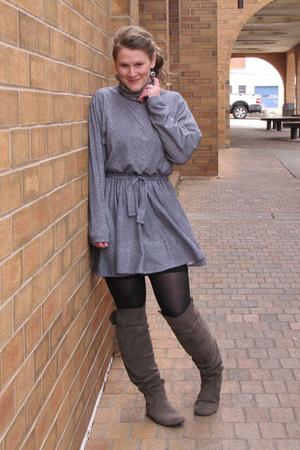 vintage dress - Target boots
