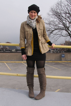 Target skirt - Target shirt - BonTon sweater - Target boots - thrifted jacket -