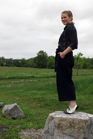 JCP pants - jacket - top - shoes
