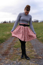 Ross top - selfmade skirt - Ross belt - JCP shoes