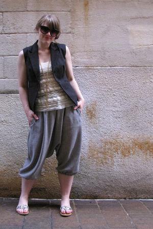 self-made pants - shockboutiquecom top - sears jacket - Target shoes