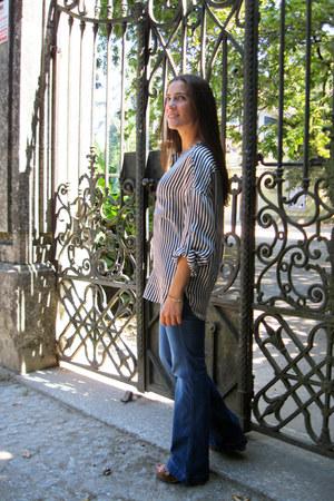 Massimo Dutti blouse - Mango jeans