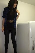 Walmart top - Suzy Shier shirt - American Apparel tights