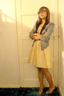 Heather-gray-miss-selfridge-blazer-bhs-dress-new-look-shoes