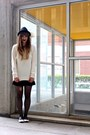 Ivory-chunky-sweater-h-m-sweater-black-fedora-d-y-hat