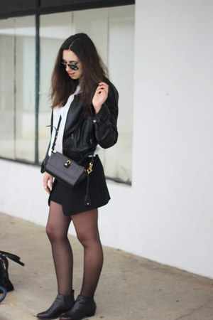 Zara skirt - Alexander Wang bag - ray-ban sunglasses - Zara flats