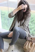 Isabel Marant boots - vintage coat - H&M sunglasses - Zara pants