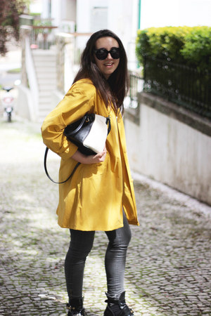 Zara bag - balenciaga boots - Celine sunglasses - Zara pants