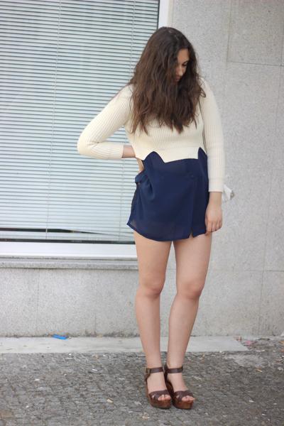 vintage shirt - Zara bag - Zara wedges - Carven jumper