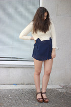 vintage shirt - Zara bag - Zara wedges - Carven jumper