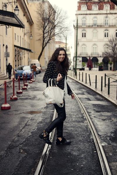 Zara coat - balenciaga boots - Alexander Wang bag - H&M pants