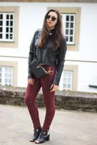 Zara heels - Alexander Wang bag - ray-ban sunglasses - H&M pants - Zara top