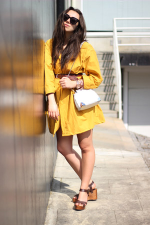 Zara bag - Celine sunglasses - Zara sandals