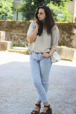 Zara top - Levis jeans - Zara wedges