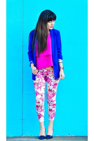 pink floral print Spoiled Bratte pants - hot pink Spoiled Bratte top