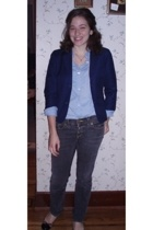 forever 21 blazer - bitten shirt - Old Navy jeans - Target shoes