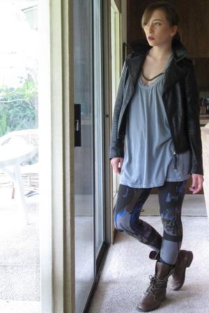 Please jacket - Emma & Sam shirt - numph leggings - seychelles boots - Bliss Lau
