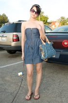 forever 21 dress - Louis Vuitton accessories - hollister shoes - H&M accessories