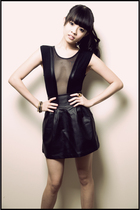 black bodysuit American Apparel suit - black Urban Outfitters skirt