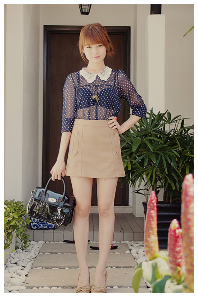 mulberry fot target bag - Topshop skirt