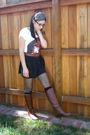 Brown-heritage-1981-skirt-vintage-belt-white-forever-21-t-shirt-gray-diy-a
